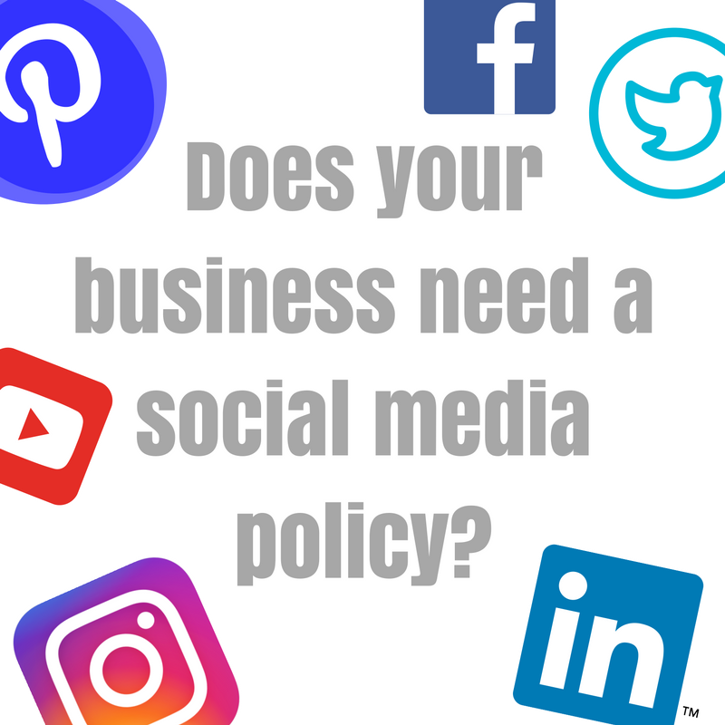 Does your company or business have a social media policy?