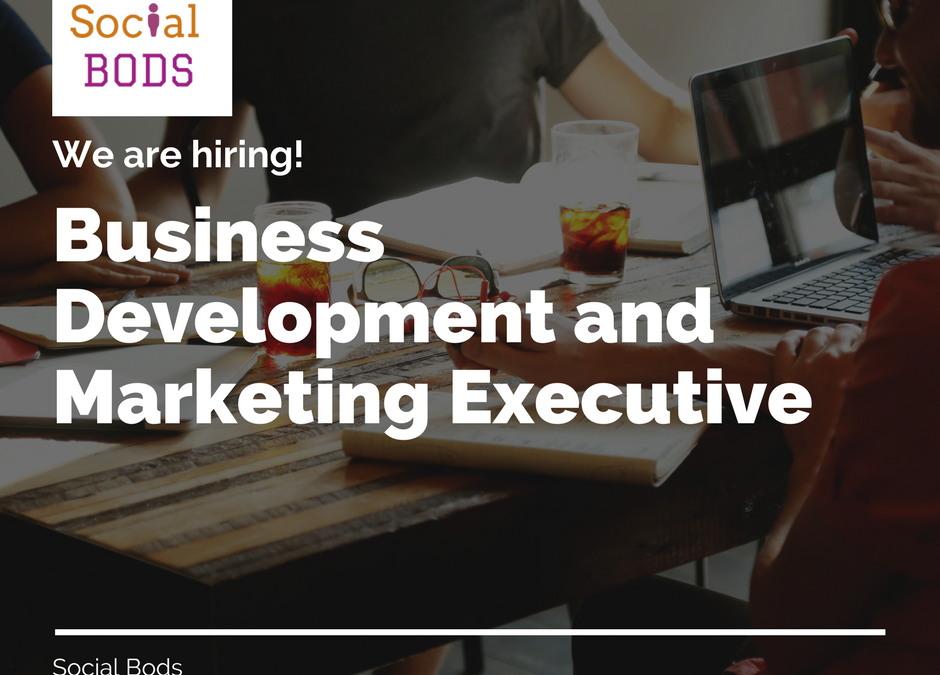 We are hiring – Business Development and Marketing Executive