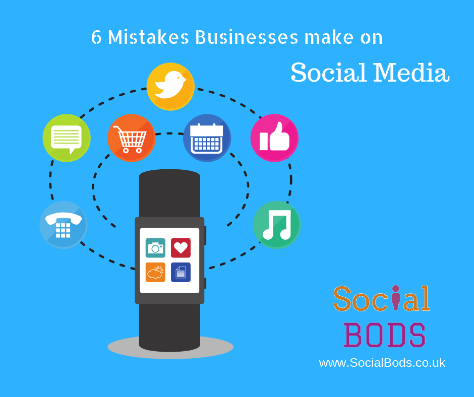 Social Media for Business mistakes