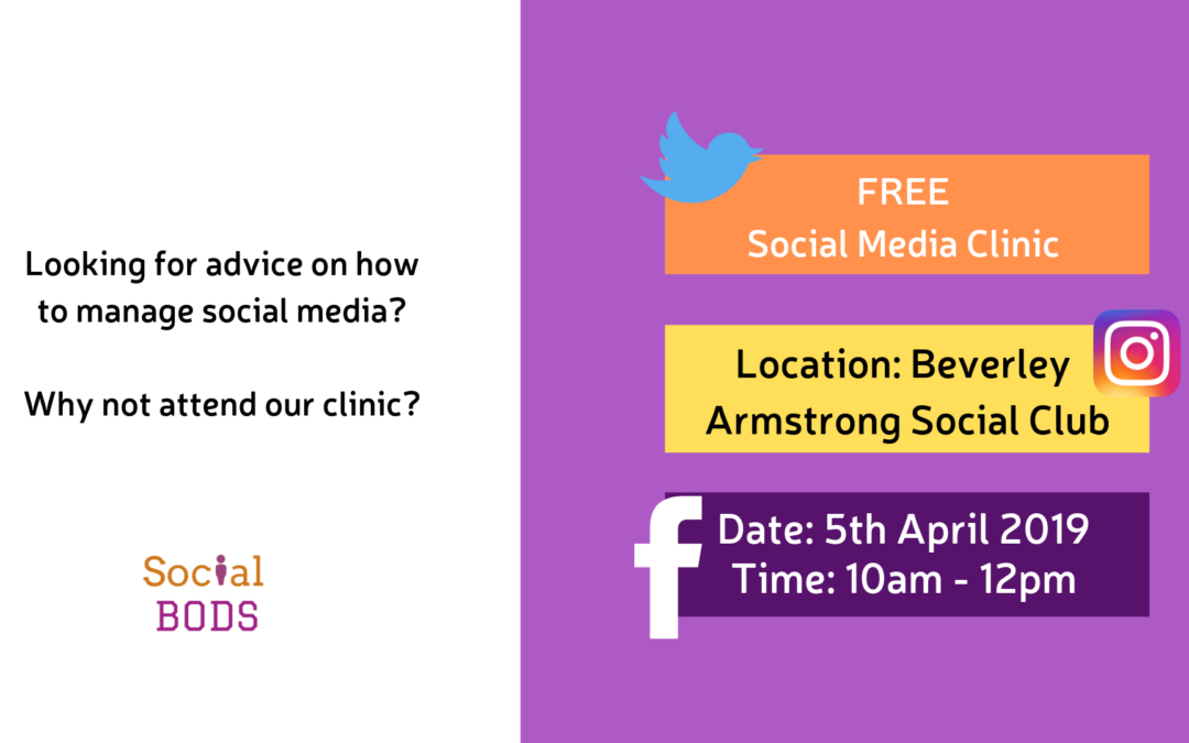 FREE Social Media Clinic – Beverley, East Yorkshire