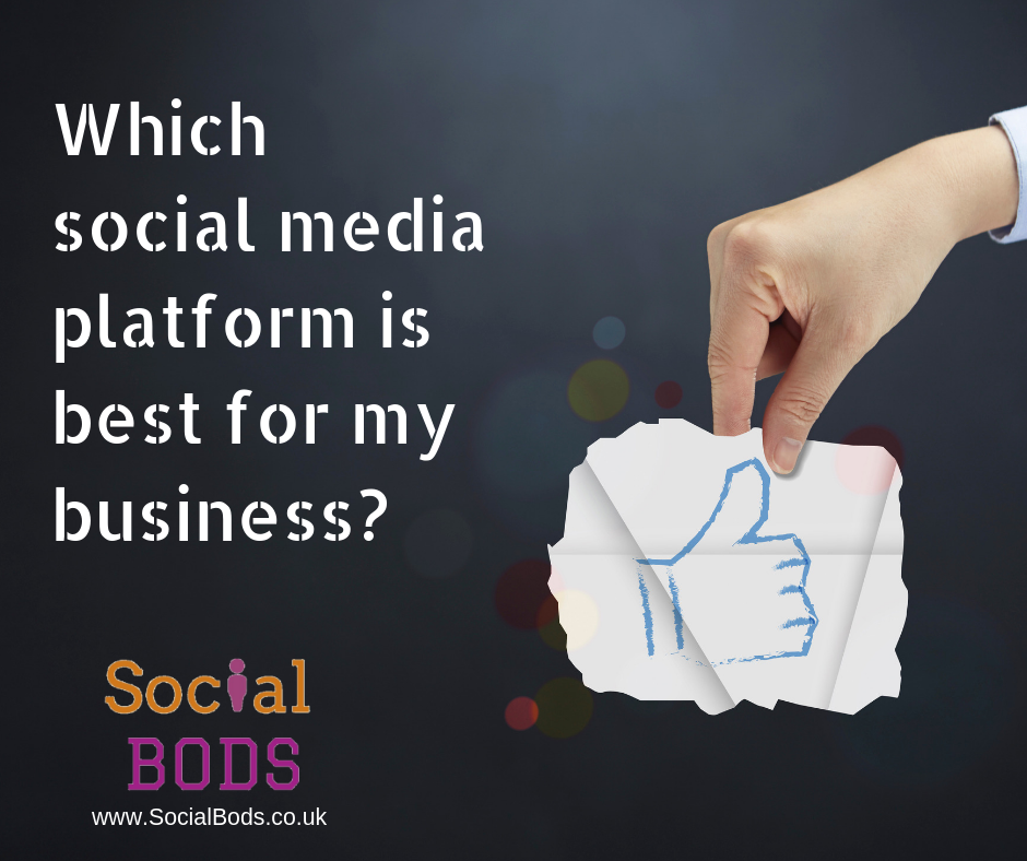 Which social media network should I use for my business?